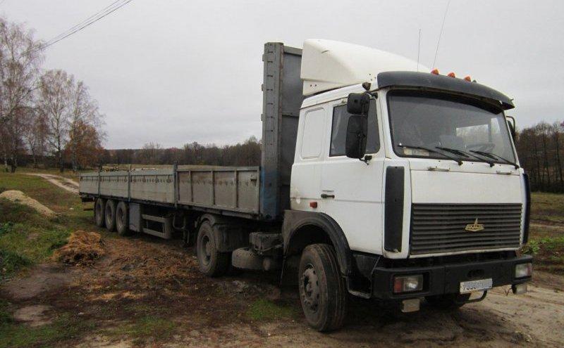 Седельный тягач МАЗ 5334 с полуприцепом 13 метров, грузоподъёмностью 20 тонн